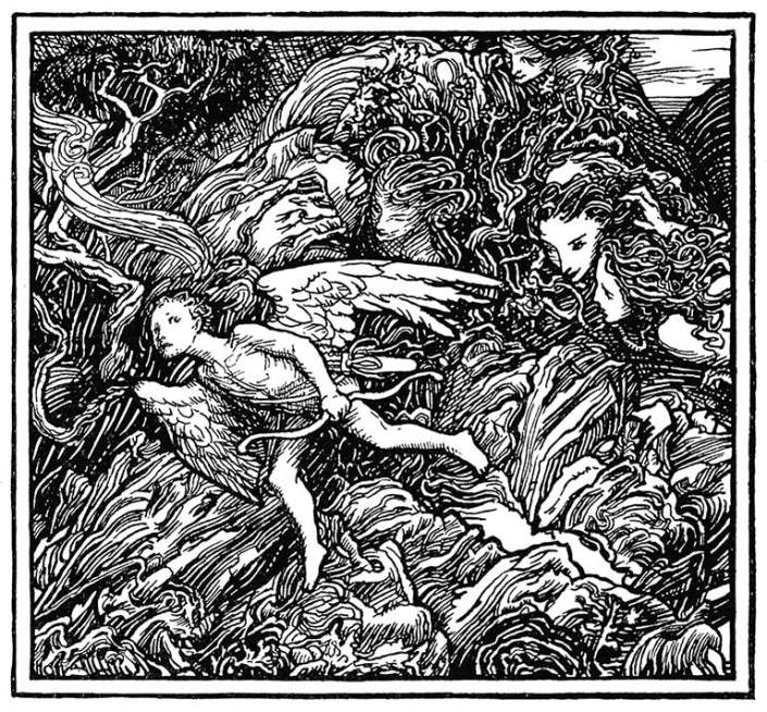 Through Weeds and Thorns, by Gerald Fenwick Metcalfe, from The Poems of Coleridge, 1907